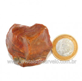 Aragonita Vermelho Pedra Bruto Mineral Natural Cod 123324