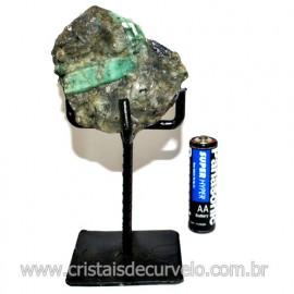 Esmeralda Canudo Pedra Natural com Suporte De Ferro Cod 119336