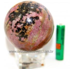 Esfera Rodonita Bola Pedra Natural de Garimpo Cod 111235