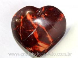 Coração Dolomita Vermelha Pedra Natural Tamanho Medio Presente Ideal Cod 96.3