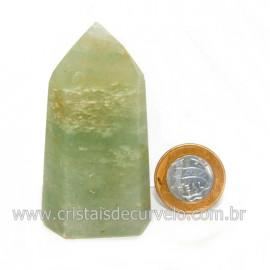 Ponta Pedra Onix Verde Lapidação Gerador Sextavado Cod 128695