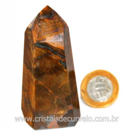 Ponta Olho de Tigre Pedra Extra Natural de Garimpo Cod 124176