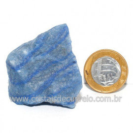 Quartzo Azul ou Aventurina Azul Bruto Natural Cod 123195