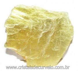 Chapa de Mica Amarela Bruta Natural de Garimpo Cod 115593
