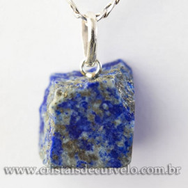Pingente Lapis Lazuli Bruto Natural Pino Prata 950 113060