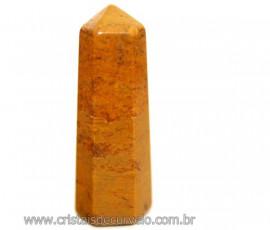 Mini Pontinha Gerador Jaspe Amarelo Tamanho 3 Cm Reff 110618