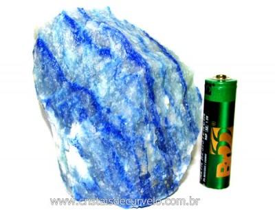 Quartzo Azul ou Aventurina Azul Pedra Bruto Natural Cod QA9901