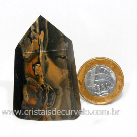 Ponta Onix Preto Pedra Natural Gerador Sextavado Cod 128923