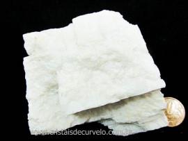 Feldspato Branco Pedra Garimpo MG Natural Para Coleção ou Lapidação Cod 245.0