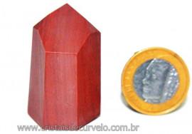 Ponta Lapidado Dolomita Vermelha Pedra Natural Cod PD9234