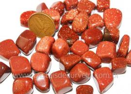 Pedra Do Sol Pigmento Dourado Pacotinho 100 gramas Pedra Rolada Extra Qualidade