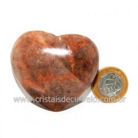 Coração Amazonita Pêssego Pedra Natural de Garimpo Cod 119046
