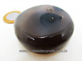 Disco Massageador Pedra AGATA NATURAL Mineral de Garimpo Cod 106.1