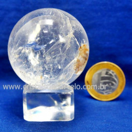 Bola Cristal Boa Qualidade Esfera Pedra Natural Cod 127550