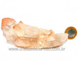 Drusa Cristal Tangerina Bruto Ideal Colecionador Cod 108946