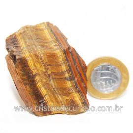 Olho de Tigre Pedra Extra Bruto Natural da África Cod 121213