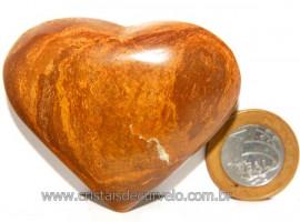 Coração Jaspe Amarelo Pedra Natural P/ Presente Cod 108118