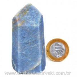 Ponta Quartzo Azul Pedra Natural Gerador Sextavado Cod 127767