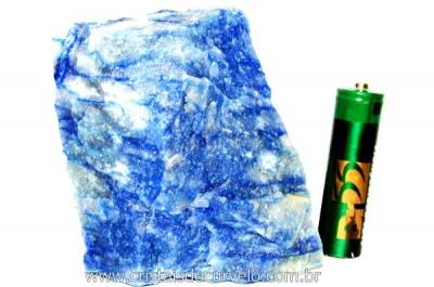 Quartzo Azul ou Aventurina Azul Pedra Bruto Natural Cod QA1932