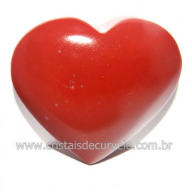 Coraçao Jaspe Vermelho Pedra Natural de Garimpo Cod 118268
