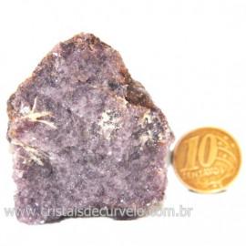 Lepidolita Mica Natural Mineral P/Colecionador Cod 124274