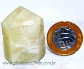 Ponta Cristal Enxofre Pedra Lapidado Cod 101814