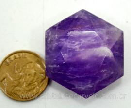 Estrela De Davi Ou Selo de Salomao Pedra AMETISTA Natural Pequeno 5 a 20 G
