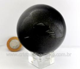 Esfera Pedra Quartzo Preto ou Quartzito Cristal Negro Intenso Cod 549.2