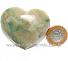 Coraçao Jade Verde Natural Origem Montes Claros MG Cod 121631