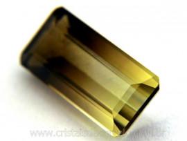 Gema Quartzo Bi Color Pedra Natural Montagem Joia Cod QB8715