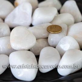 Pedra Rolado QUARTZO LEITOSO Pct 1kg Tipo Grande REF 273821