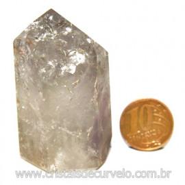 Ponta Prasiolita ou Ametista Verde Pedra Natural Cod 117647