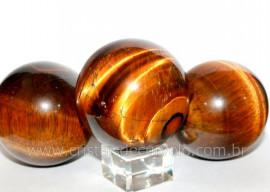 Esfera Olho de Tigre Bola Mineral Origem Africa Tamanho G Reff BT8040