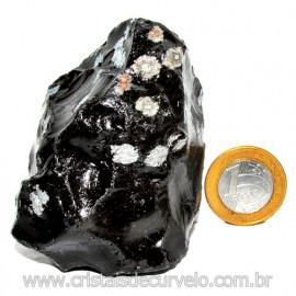 Obsidiana Flocos de Neve Pedra Vulcanica Natural Cod 114665