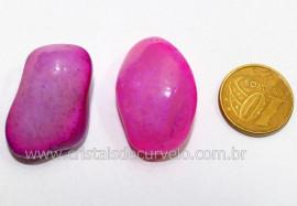 02 Agata Rosa Rolado Pedra Natural de Garimpo Esoterismo Colecionador Reff 23.7