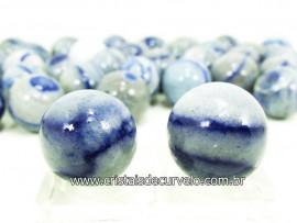 02 Mini Bola Aventurina Azul Esfera Pedra Natural e Pequena KIT