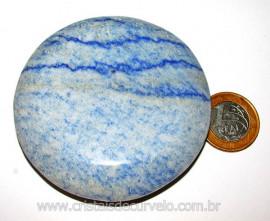 Massageador Disco Quartzo Azul Pedra Natural Cod 103319