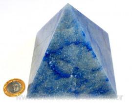 Pirâmide GRANDE Pedra Quartzo Azul Natural Queops cod PG6453